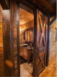 Rustic powder bath