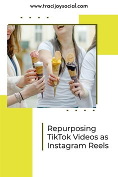 How to re-use your TikTok videos as Instagram Reels without affecting your engagement. Sales And Marketing Strategy, Marketing Strategies, Social Media Marketing, Find Instagram, Instagram Tips, Repurposing, Pinterest Marketing, Business Tips, Joy