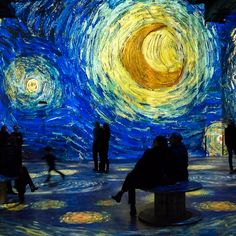 The magic of van Gogh comes to life as never before through the immersive experience offered by Carrieres de Lumieres. Interactive Museum, Interactive Art, Van Gogh Museum, Art Museum, Museum Exhibition, Van Gogh Exhibition, Art Hoe Aesthetic, Van Gogh Art, Artistic Installation