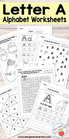 Free Printable Letter A Worksheets - Alphabet Worksheets Series