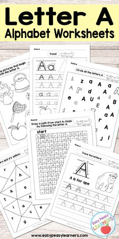 Free Printable Letter A Worksheets - Alphabet Worksheets Series