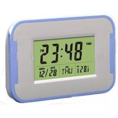 Digital color changing light clock with nature sound   7 color changing clock with Calendar, Temperature, Alarm clock, Week