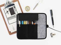 Indigo Basic Roll Pencil Case — ACCESSORIES -- Better Living Through Design