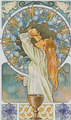 Ace of Cups - Art Nouveau Tarot