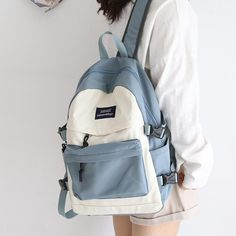 Large Capacity Women Backpack Fashion Schoolbag Backpack for Teenager Girls Female High School College Student Book Bags Female Stylish School Bags, Cute School Bags, High School Bags, Back To School Bags, College School Bag, College Book Bag, College Bags For Girls, Girls Bags, Bags For Teens