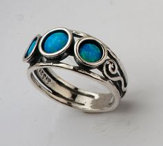 Hey, I found this really awesome Etsy listing at https://www.etsy.com/listing/188019171/shablool-israel-didae-blue-opal-sterling