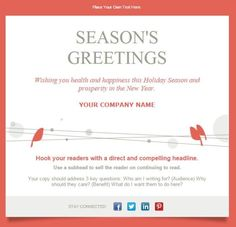 11 holiday email templates for small businesses nonprofits 11 holiday email templates for small businesses nonprofits m4hsunfo