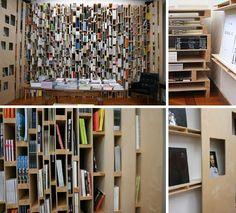 Resultado de imagem para bookshelf wall