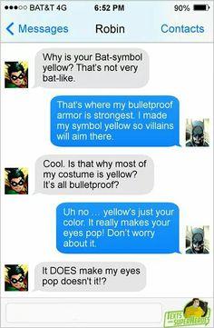 Yeah Your Bullet Proof *nervous sweating* Marvel Funny, Marvel Memes, Marvel Dc Comics, Funny Comics, Superhero Texts, Comic Text, Funny Text Conversations, Text Jokes, Dc Memes