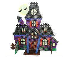 Creaks and groans, rattling chains and flapping of wings—imagine the creepiness when you make this spooky haunted house from Perler beads! This fun 3-D project makes a great decoration for Halloween parties and greeting little goblins who come trick or treating!