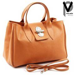 Vera Pelle Handtasche 35cm Echt Leder Handtasche Henkeltasche Schultertasche