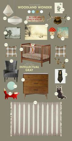 Little Man Room! I love the idea of using a plaid- regardless of gender.