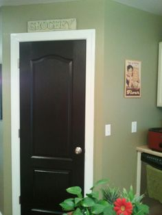 We Painted Our Interior Doors Black And Were So Surprised At How Warm And  Inviting The Small Change Made Everything Feel.