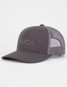 f9456b4c641 RVCA Curved Bill Mens Trucker Hat - CHARC - MKAHWCBT-CCH