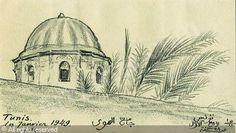 ROUBTZOFF Alexandre,Dôme de la mosquée El-Hawa à Tunis