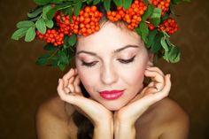 Ukrainian girl. I love you...Ukraine - Beautiful Woman Portrait. Long Brown Hair
