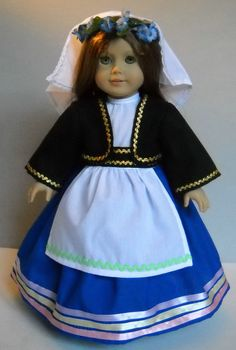 """Fits 18"""" American Girl doll Greek Greece folk dress clothes F (COSTUME ONLY) #Handmade #ClothingShoes"""