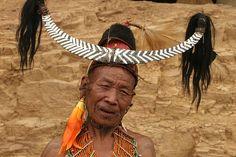 India - Nagaland | Konyak Naga people at Wakching village. © Walter Callens