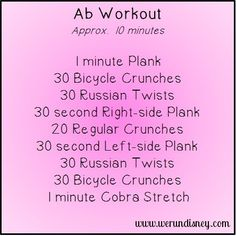Bathing suit season is coming! Quick at home ab workout