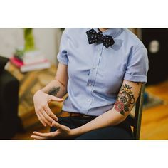 "girlinabowtie: "" Soon it will be fall and I can wear bow ties again! by Sojo. girlinabowtie: "" Soon it will be fall and I can wear bow ties again! by Sojo… girlinabowtie Androgynous Women, Androgynous Fashion, Tomboy Fashion, Tomboy Style, Androgyny, Prom Outfits, Tomboy Outfits, Fall Outfits, Cute Outfits"