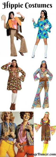 1960s Hippie Costumes, 1970s Hippie Clothing