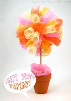 Deco Mesh, How to, Tutorials, DIY, Topiary Ideas, Birthday Party Ideas, Summer Tablescape, Centerpiece