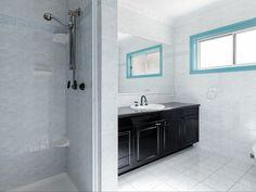 Double Vanity, Homes, Mirror, Bathroom, Places, Stuff To Buy, Furniture, Home Decor, Washroom