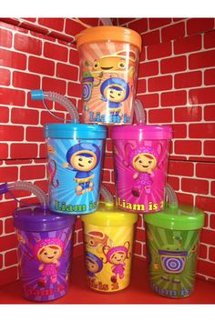 Team Umizoomi Personalized Birthday Party Favor Cups INSERTS ONLY Set of 12 on Etsy, $6.00