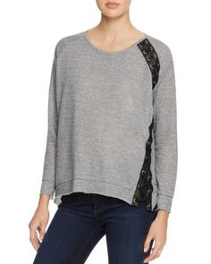 Generation Love Darcey Lace-Up Pullover | Bloomingdale's