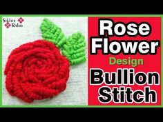 Hand Embroidery For Beginners Rose Flower design Bullion Stitch ! full Tutorial for beginners ! hand e. Hand Embroidery Work Designs, Hand Embroidery Videos, Hand Embroidery Tutorial, Hand Embroidery Flowers, Embroidery For Beginners, Embroidery Techniques, Ribbon Embroidery, Embroidery Ideas, Satin Stitch