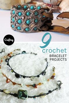 Love to crochet and looking for Mother's Day gift ideas? Why not try one of these 9 crochet bracelet patterns. You'll have some beautiful custom jewelry for mom in no time!