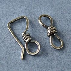 Handmade Jewelry Findings, by Rocki Adams: Artisan Clasp Findings - Square Hook