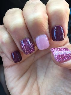 SNS fall nails toenails dippednails - Care - Skin care , beauty ideas and skin care tips Ten Nails, Dipped Nails, Chrome Nails, Cute Acrylic Nails, Purple Nails, Powder Nails, Creative Nails, Halloween Nails, Bling Nails