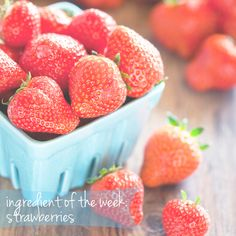 Tons of recipes using spring's most adorable ingredient - Strawberries! #Healthy #Fruit #Recipes