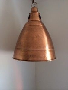 Brushed copper pendant lighting buy brushed copper pendant mr ralph industrial copper bell pendant pendants mozeypictures Choice Image