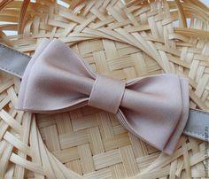 """Купить Галстук бабочка """"Пепел Розы"""" - бледно-розовый, однотонный, галстук бабочка"""