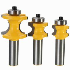 Drillpro RB24 22.2/25.4/35mm 1/2 Inch Shank Carbide Router Bit Wood Working Cutter Engraving Tool