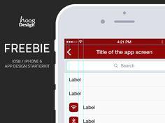 Freebie Ios Iphone6 PSD - App Design Starterkit by Fabian Krieger