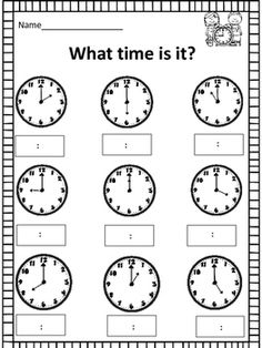 This is a good worksheet for 2nd graders, or whatever is a