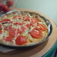 Quiche de pollo y tomate