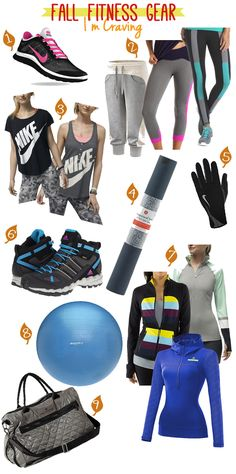 Fall Fitness Clothing & Gear I'm Craving// awesome! Love Fitness, Fitness Gear, Fitness Fashion, Fitness Clothing, Fitness Outfits, Workout Clothing, Workout Fitness, Workout Attire, Workout Wear