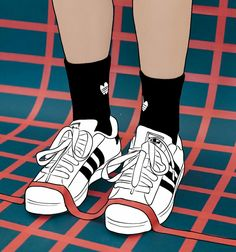 New sneakers illustration fun ideas Cartoon Shoes, Shoes Wallpaper, Mural Wall Art, Illusion Art, Black And White Drawing, New Sneakers, Black Women Art, Dope Art, Nike Outfits