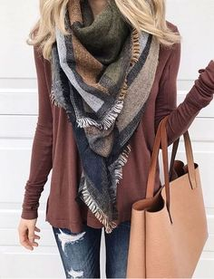I love this multicolor scarf!