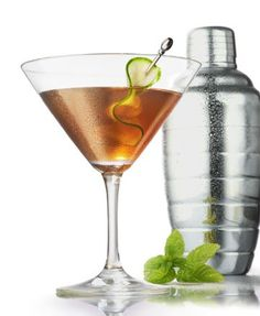 The Derby Martini  6 mint leaves  2 cucumber slices, divided  ½ ounce brown sugar syrup (equal parts boiling water and brown sugar)  1½ ounces Old Forester Bourbon