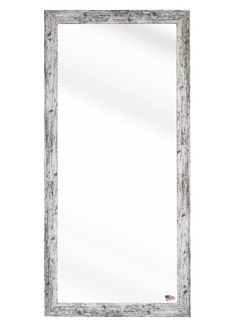 White Weathered Handcrafted Farmhouse Wall Mirror