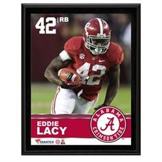 Eddie Lacy Alabama Crimson Tide Sublimated 10.5'' x 13'' Plaque