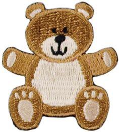 Teddy Bear 1/Pkg Iron-On Appliques A001300-234