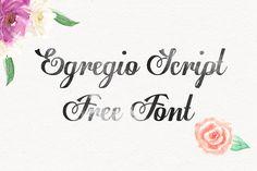 DLOLLEYS HELP: Egregio Script Free Font
