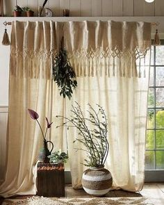 Buy stylish handmade macrame curtains in Australia with shipping service. Price range of macrame curtain start from AUD. To know more about our products visit to our website. Home Curtains, Hanging Curtains, Bohemian Curtains, Window Coverings, Window Treatments, Cortinas Boho, Double Rod Curtains, Macrame Curtain, Small Spaces