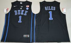 $21 Duke Blue Devils #1 Harry Giles Black College Basketball Swingman Men's Stitched NCAA Jersey